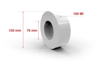 Self adhesive roll 50,8mm x 100 Mt.