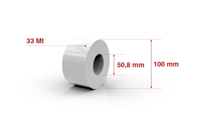 Self adhesive roll 50,8mm x 33 Mt.