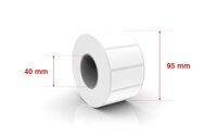 Self adhesive labels 40x25mm / 1100  labels