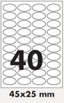 Self adhesive labels - Silver 45X25 mm
