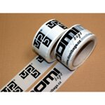 Printed adhesive tape - 50 mm x 66m ( black print )